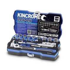"Kincrome Kincrome K27010 19 Piece Metric 3/8"" Square Drive Lok-On Socket Set"