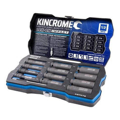 "Kincrome Kincrome K27072 12 Piece Metric 1/2"" Square Drive Lok-On Deep Impact Socket Set"
