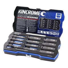 "Kincrome Kincrome K27073 12 Piece SAE 1/2"" Square Drive Lok-On Deep Impact Socket Set"