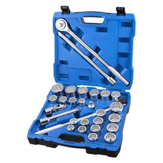 "Kincrome Kincrome K28145 28 Piece Metric & SAE 3/4"" Square Drive Socket Set"