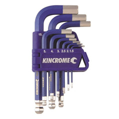 Kincrome Kincrome K5143 9 Piece Short Series Hex Key & Wrench Set
