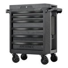 Kincrome Kincrome K7536 6 Drawer Black Series Contour Steel Roller Cabinet