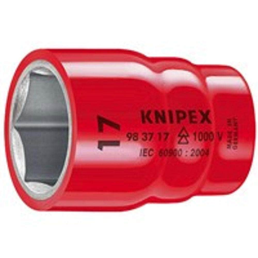 "Knipex Knipex 983712 12mm 6 Point 3/8"" Square Drive 1000V Insulated Socket"