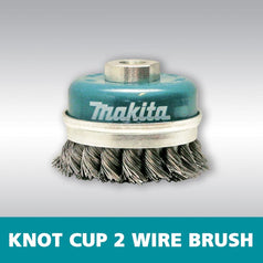 Makita D-55217 75mm x M10 Knot Cup Wire Wheel Brush