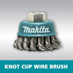 Makita D-55164 60mm x M14 Knot Cup Wire Wheel Brush