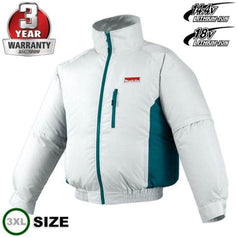 Makita Makita DFJ201Z3XL 14.4V-18V 3XL Cordless Fan Jacket (Skin Only)