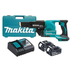 Makita Makita DFR450RFEX 18V 3.0Ah Cordless Auto Feed Screw Gun Kit