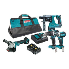 Makita Makita DLX4102T 4 Piece 18V 5.0Ah Cordless Brushless Combo Kit
