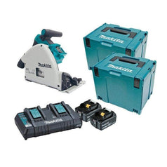 "Makita Makita DSP600PT2J 36V (18Vx2) 5.0Ah 165mm (6-1/2"") Cordless Brushless Plunge Cut Circular Saw Kit"