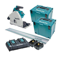 "Makita Makita DSP600PT2JT 36V (18Vx2) 5.0Ah 165mm (6-1/2"") Cordless Brushless Plunge Cut Saw Kit with Track Saw"