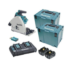 "Makita Makita DSP601PT2JU 36V (18Vx2) 5.0Ah 165mm (6-1/2"") AWS Cordless Brushless Plunge Circular Saw Kit"