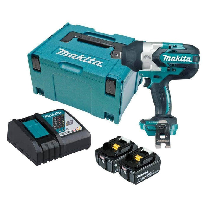 "Makita Makita DTW1001RTJ 18V 5.0Ah 3/4"" Square Cordless Brushless Impact Wrench Kit"