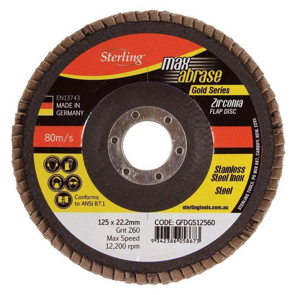 Maxabrase Maxabrase GFDGS17880 178mm x ZK80 Grit Gold Inox Stainless Steel Flap Disc