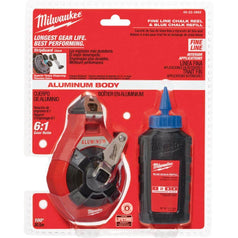 Milwaukee Milwaukee 48223992 30m Blue Precision Fine Line Blue Chalk Kit