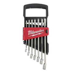 Milwaukee Milwaukee 48229507 7 Piece Metric Open End & Ring Wrench Set