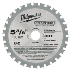 "Milwaukee Milwaukee 48404070 135mm (5-3/8"") 30T Ferrous Metal Circular Saw Blade"