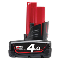 Milwaukee Milwaukee M12B4 M12 12V 4.0Ah Cordless REDLITHIUM-ION Battery