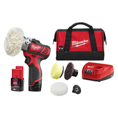 Milwaukee Milwaukee M12BPS-202B 12V 2.0Ah Cordless Variable Speed Polisher Sander Kit