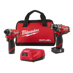 Milwaukee Milwaukee M12FPP2A-421B 2 Piece 12V 4.0Ah FUEL Cordless Combo Kit