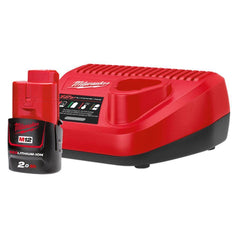 Milwaukee Milwaukee M12SP-201B 12V 2.0Ah REDLITHIUM-ION Battery & Charger Starter Kit