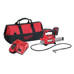 Milwaukee Milwaukee M18GG-201B 18V 2.0Ah Cordless 2-Speed Grease Gun Kit