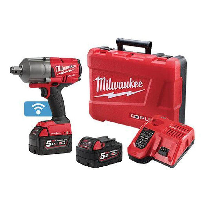 "Milwaukee Milwaukee M18ONEFHIWF34-502C 18V 5.0Ah 3/4"" FUEL ONE-KEY Cordless High Torque Impact Wrench Kit"