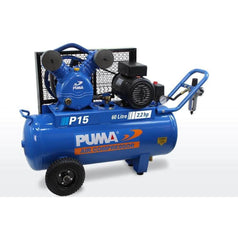 Puma Puma P15 60L 2.2HP 1.65kW 240V 10Ah Belt Drive Air Compressor