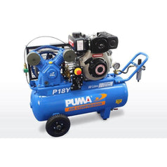 Puma Puma P18Y-ES 60L 4.7HP Yanmar Electric Start Diesel Belt Drive Air Compressor