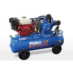 Puma Puma P22H 75L 6.5HP Electric Start Honda GX200 Petrol Belt Drive Air Compressor