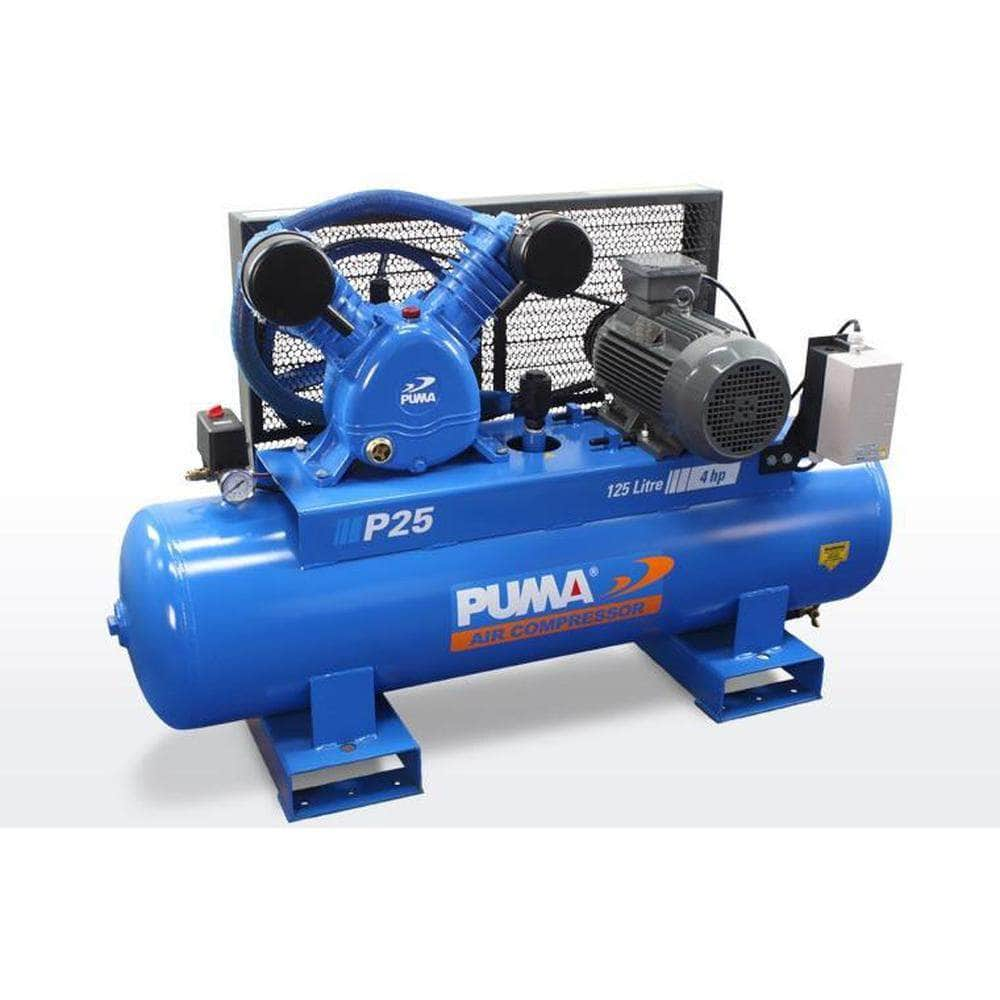 Puma Puma P25 125L 4.0HP 3kW 415V 6.4Ah Belt Drive Air Compressor