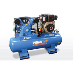 Puma Puma P30Y-ES 125L 6.7HP Electric Start Yanmar Diesel Belt Drive Air Compressor