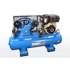 Puma Puma P40Y 140L 10.0HP Electric Start Yanmar Diesel Belt Drive Air Compressor
