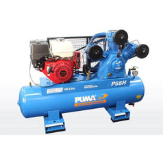 Puma Puma P55H-ES 13.0HP Electric Start Honda GX390 Petrol Belt Drive Air Compressor