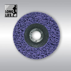 "Makita B-29022 125mm (5"") x 22.23mm Purple Fibreglass Silicone Carbide Strip Grinding Disc"