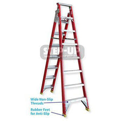 Step-Up Step-Up ST11105 1.7m - 3.2m Fiberglass Dual Purpose A-Frame & Extension Ladder