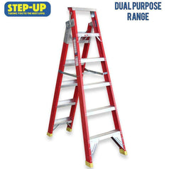Step-Up Step-Up ST11106 2.0m - 3.8m Fibreglass Dual Purpose A-Frame & Extension Ladder
