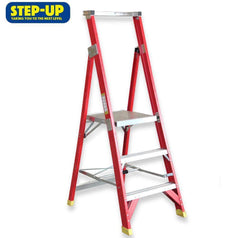 Step-Up Step-Up ST11303 0.9m (3ft) Fibreglass Step Platform Ladder