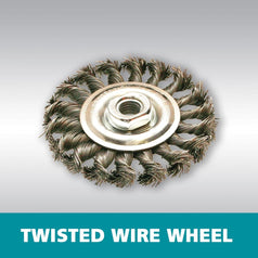 Makita D-55267 125mm x M14 Twisted Wire Wheel Brush