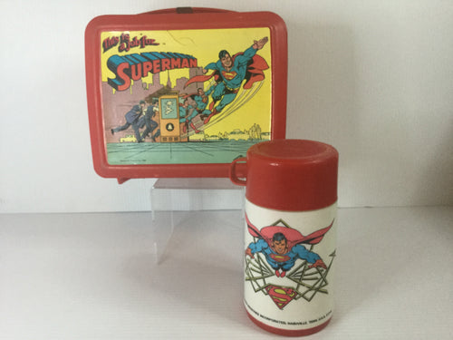 Superman Plastic Lunchbox w/Thermos