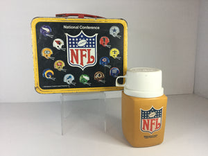 NFL Metal Lunch Box w/ Thermos