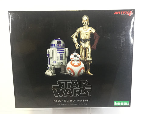 R2-D2 & C-3PO w/ BB-8   1/10 scale pre-painted model kit