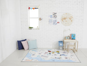 Creamy Play Rug - Village