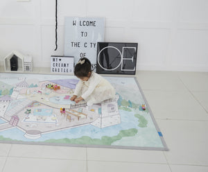 Creamy Play Rug - Castle