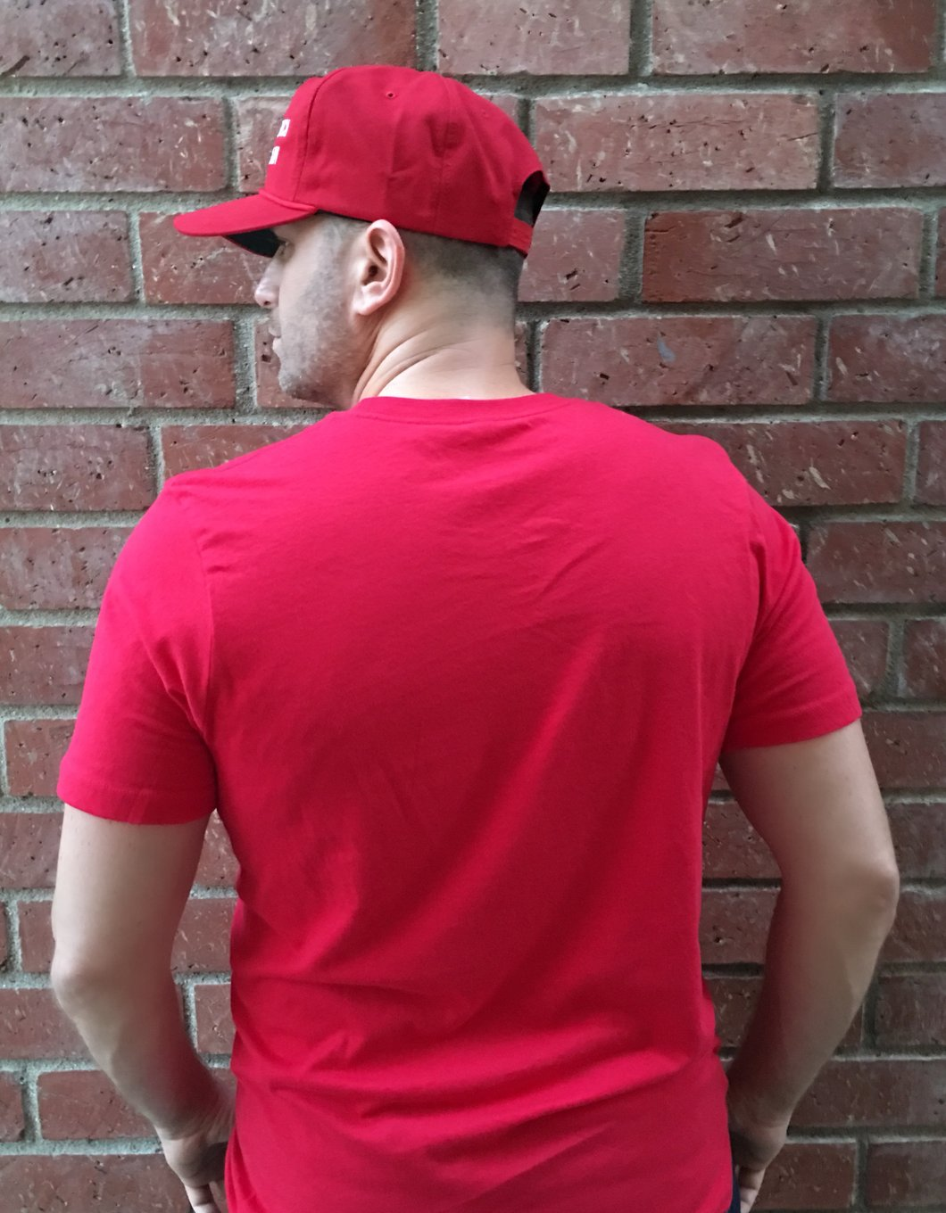 Male Short Sleeve Red T-Shirt