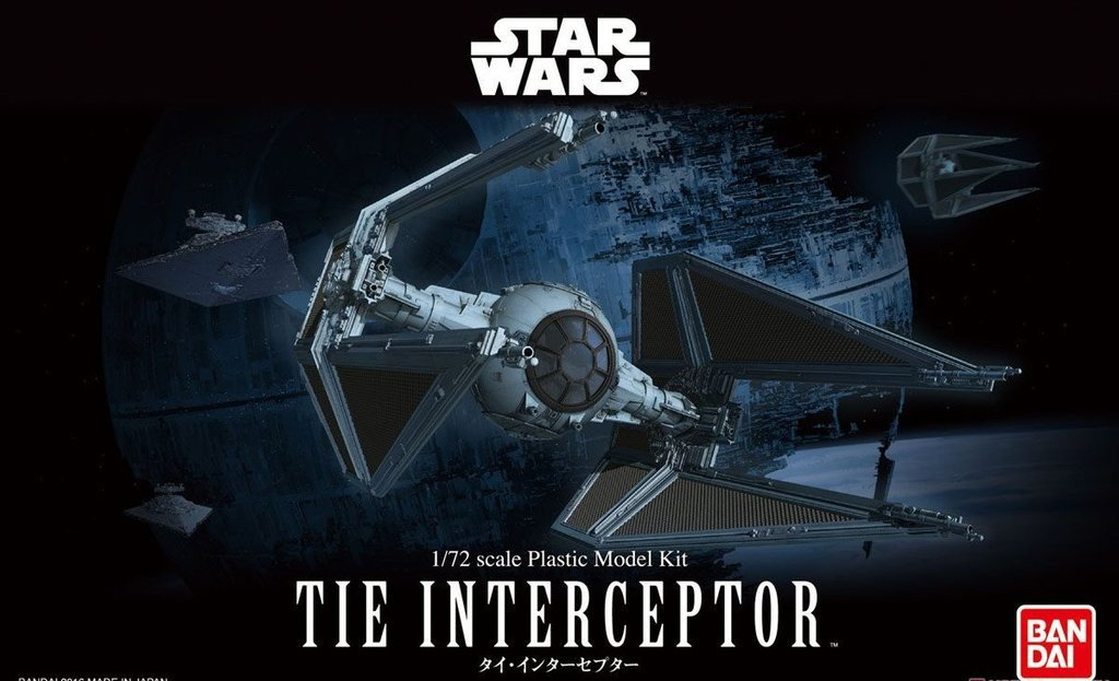 Tie Interceptor 1/72 Scale Model Kit
