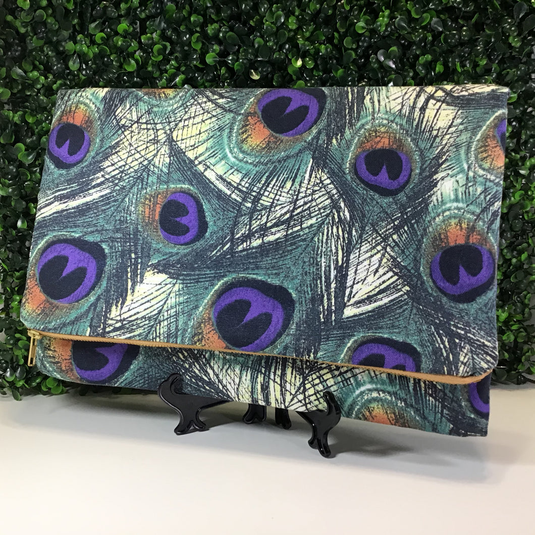 Peacock Feathers Clutch