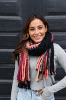 Panache Color Block Fringe Scarf on Shopbfree.com; Women's Scarf; Color Block Scarf; Women's Fringe Scarf; Women's Online Clothing and Accessories Boutique; Bfree_Boutique; BfreeBabe; MyBfreeStyle