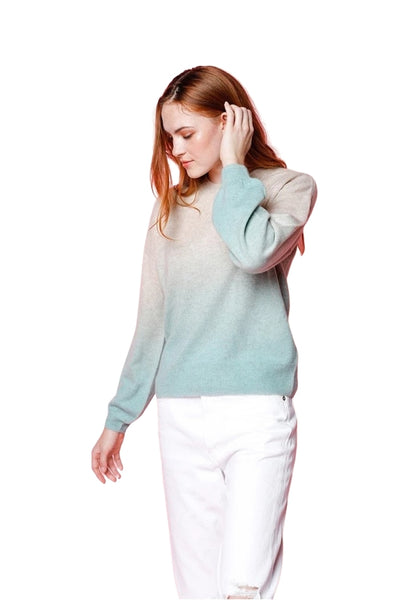 27 Miles Malibu Clothing Carleen Cashmere Crewneck Sweater in Seaglass;Women's Holiday Gift Idea;Women's Cashmere Sweater;Women's Resort/Pre Spring '21 Sweater;Women's Sweater;Women's Online Clothing and Accessories Boutique;shopbfree;Bfree_boutique;bfreebabe;MyBfreeStyle