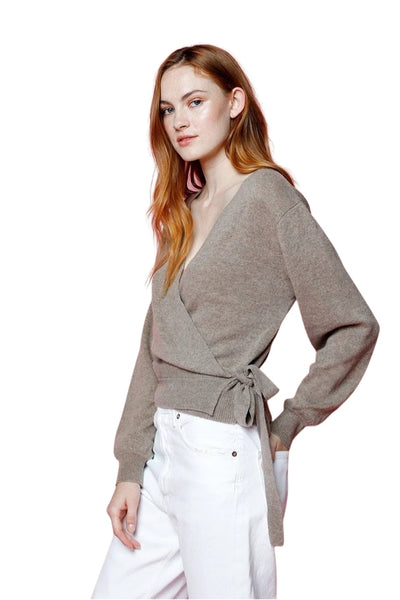 27 Miles Malibu Clothing Clarise Cashmere Wrop Sweater in Sable;Women's Holiday Gift Idea;Women's Cashmere Sweater;Women's Resort/Pre Spring '21 Sweater;Women's Sweater;Women's Online Clothing and Accessories Boutique;shopbfree;Bfree_boutique;bfreebabe;MyBfreeStyle