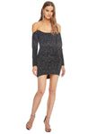 Heart Breaker Dress Black Sparkle Dot